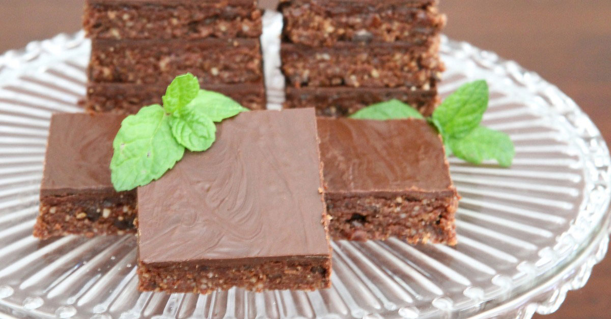 Raw Mint and Chocolate Squares