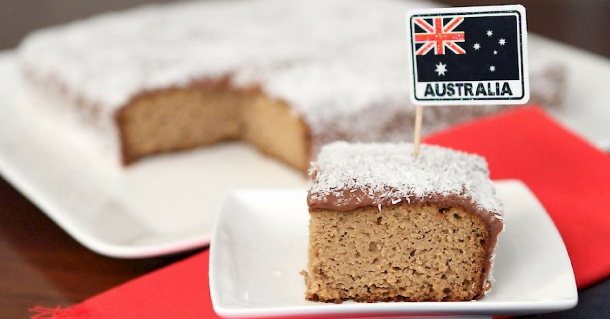 Australia Day Lamington Cake