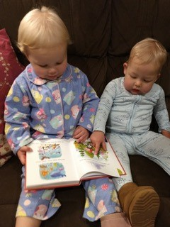 Free Bibles for Bubs - Ashleigh and Walter reading their Toddler Bible