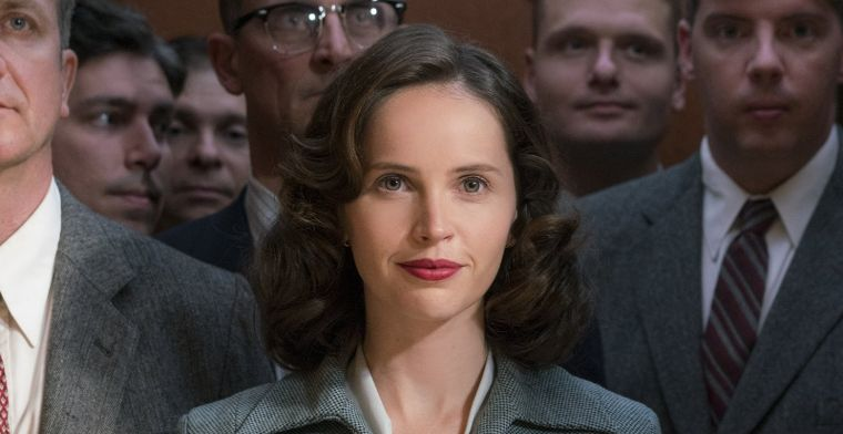 "Felicity Jones plays the inspiring lead character, Ruth Bader Ginsberg, in the film ""On the Basis of Sex"""