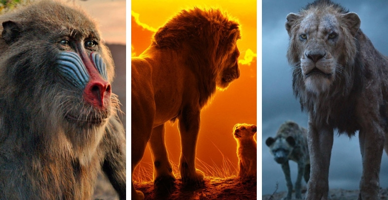 Characters from The Lion King 2019