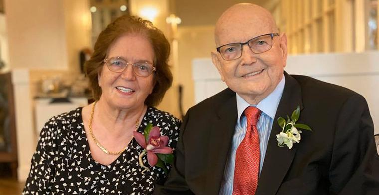 Reinhard celebrates 55 years married
