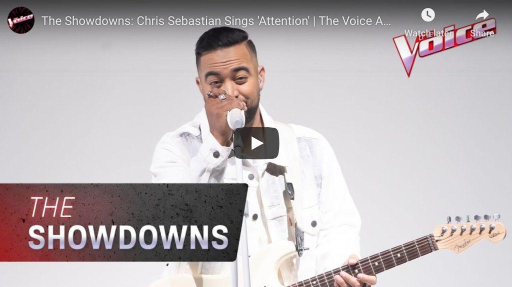 chris sebastian the voice the showdown video