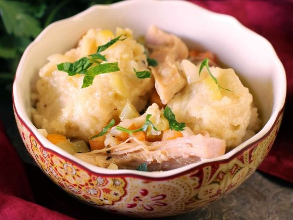 photo shows chicken dumplings