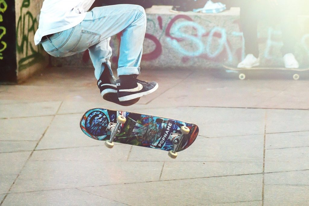 a male skateboarder