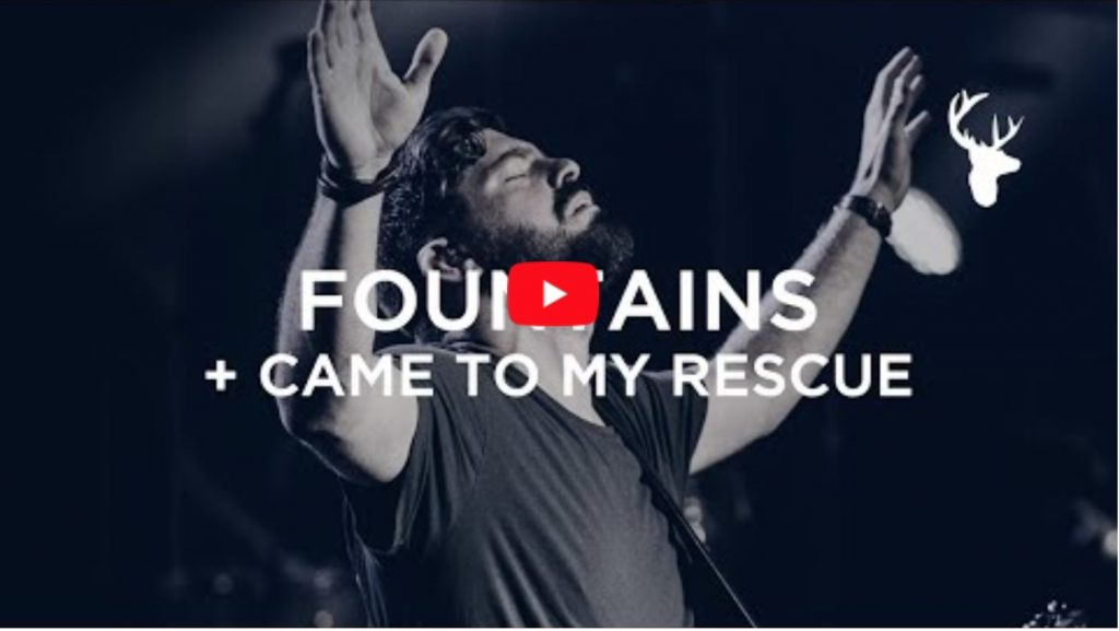 """Josh Baldwin and Kalley Heiligenthal lead """"Fountains"""" and """"Came to my Rescue"""" at Bethel Church."""