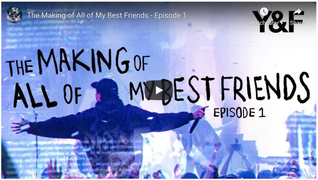 youtube video - the making of all of my best friends episode 1