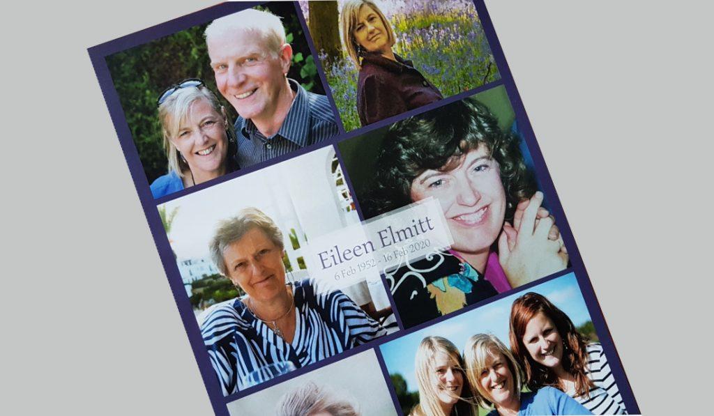 Eileen Elmitt memorial card