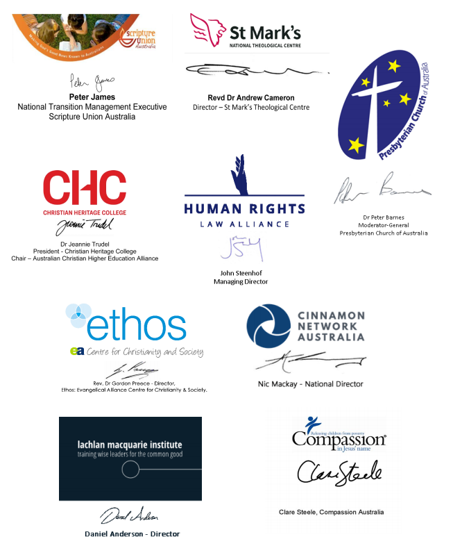 signatories of organisations
