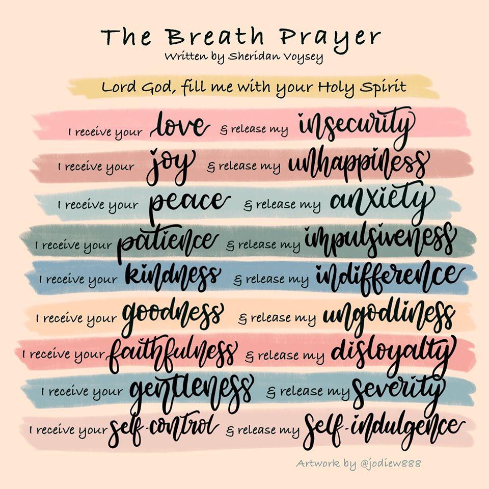 illustration of the breath prayer
